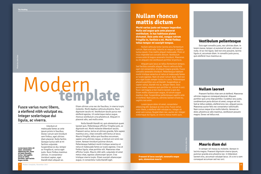 Publication Document Template Design: Modern Template