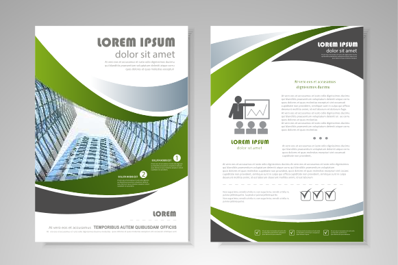 Corporate Document Template Design: Corporate Flyer Template - Front and Back